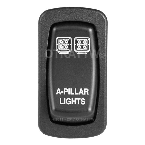 A-PILLAR-LIGHTS,  LOWER LED INDEPENDENT