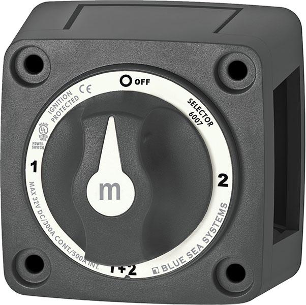 Blue Sea m-Series Mini Battery Selector Switch Black