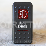CONTURA II, FOG LIGHTS, RED LENS, UPPER INDEPENDENT, INCANDESCENT LIGHTS