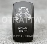 CONTURA V, RZR A-PILLAR LIGHTS, UPPER DEPENDENT LED ONLY