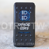 CONTURA II, OFF-ROAD LIGHTS, BLUE LENS, ROCKER ONLY