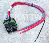 """HELLA, ISO WEATHERPROOF RELAY CONNECTOR WITH 12"""" LEAD"""